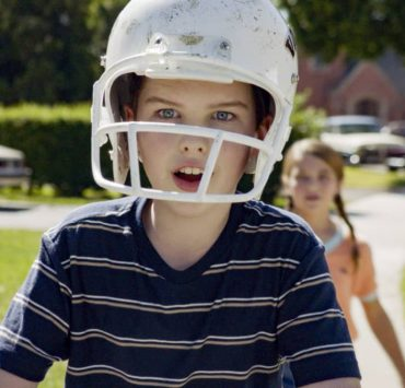 """Training Wheels and an Unleashed Chicken"" – Pictured: Sheldon (Iain Armitage). With college in sight, Sheldon is determined to ride his bike without training wheels. Also, Mary and George Sr. argue overparenting styles, on YOUNG SHELDON, Thursday, Nov. 19 (8:00-8:31 PM, ET/PT) on the CBS Television Network. Photo: Screen Grab / ©2020 Warner Bros. Entertainment Inc. All Rights Reserved."