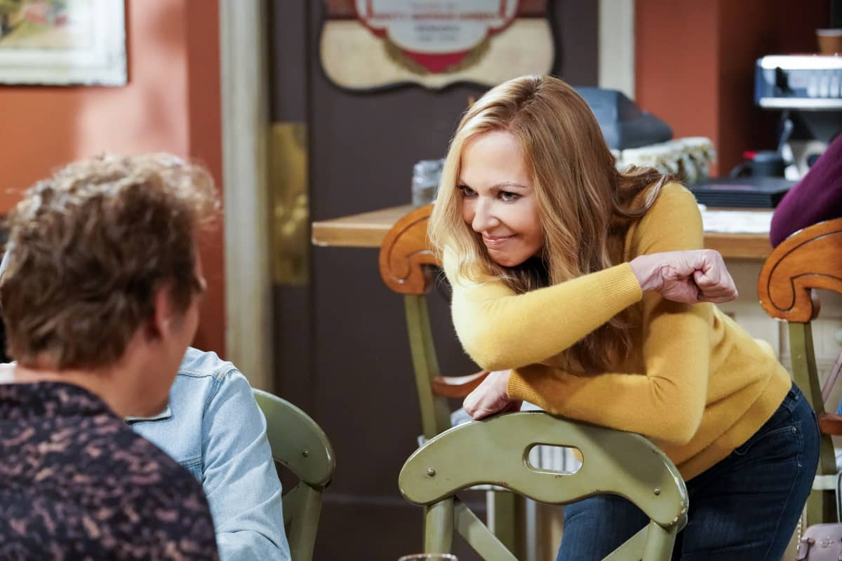 """""""Tang and a Safe Space for Everybody"""" – Bonnie takes a trip down memory lane when she reconnects with an old flame, Rod (Steve Valentine). Also, Tammy volunteers to remodel the kitchen so it's more accessible to Adam, on MOM, Thursday, Nov. 19 (9:01-9:30 PM, ET/PT) on the CBS Television Network.  Pictured: Allison Janney as Bonnie  Photo: Robert Voets/CBS ©2020 CBS Broadcasting, Inc. All Rights Reserved."""