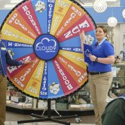 """SUPERSTORE -- """"Prize Wheel"""" Episode 604 -- Pictured: (l-r) Nico Santos as Mateo, Lauren Ash as Dina -- (Photo by: Trae Patton/NBC)"""
