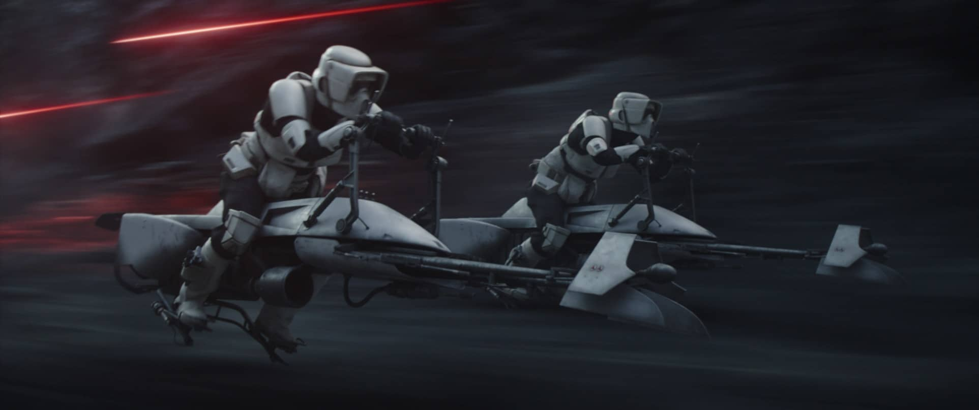 Scout Troopers in Lucasfilm's THE MANDALORIAN, season two, exclusively on Disney+. © 2020 Lucasfilm Ltd. & ™. All Rights Reserved.
