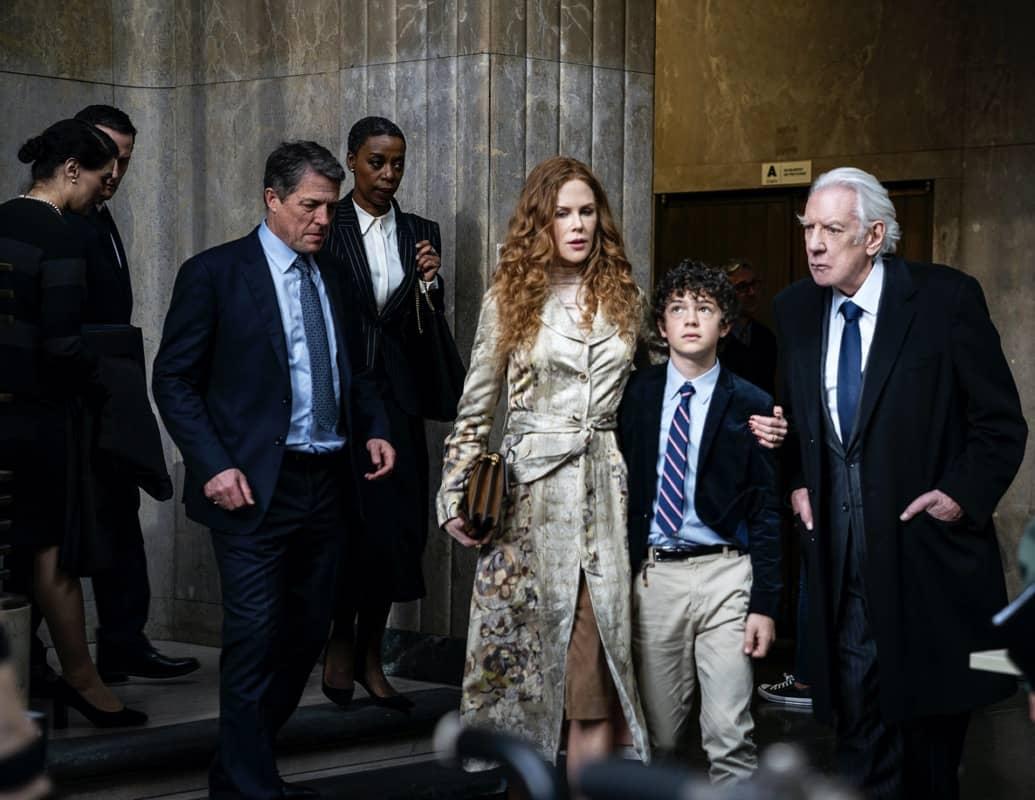 Hugh Grant, Noma Dumezweni, Nicole Kidman, Noah Jupe, Donald Sutherland HBO The Undoing Photograph by Niko Tavernise/HBO