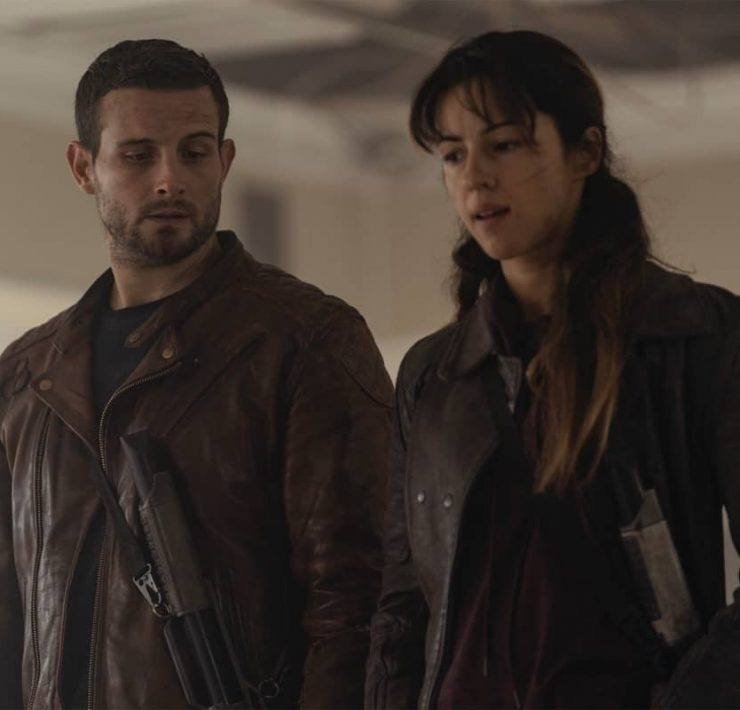 Annet Mahendru as Huck, Nico Tortorella as Felix - The Walking Dead: World Beyond _ Season 1, Episode 8 - Photo Credit: Zach Dilgard/AMC