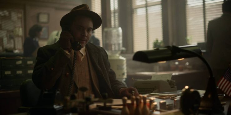 """FARGO -- """"Happy"""" - Year 4, Episode 10 (Airs November 22) Pictured: Jack Huston as Detective Odis Weff. CR: FX"""