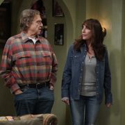 "THE CONNERS - ""Friends in High Places and Horse Surgery"" – Darlene begins to develop a friendship with a manager at Wellman Plastics, which lands her in an awkward situation between the boss and her sister, Becky. Meanwhile, Louise's brother, Neville, tries to win over Jackie by making a thoughtful gesture, creating uncomfortable tension, on ""The Conners,"" airing WEDNESDAY, NOV. 25 (9:00-9:30 p.m. EST), on ABC. (ABC/Eric McCandless) JOHN GOODMAN, KATEY SAGAL"