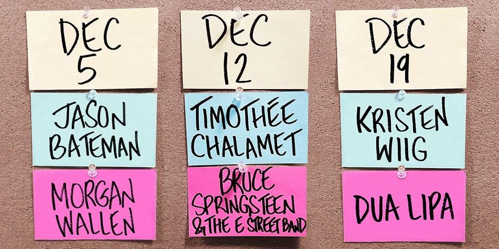 SNL December 2020 Lineup
