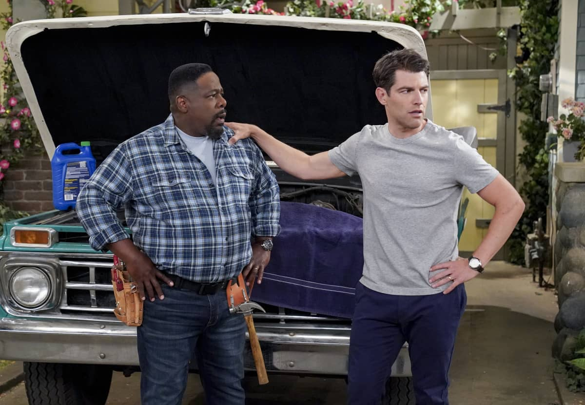 """Welcome to Couples Therapy"" - Pictured: Cedric the Entertainer (Calvin Butler) and Max Greenfield (Dave Johnson). After learning Dave and Gemma occasionally see a couple's therapist to keep their marriage strong, Tina decides she and Calvin should do the same, to Calvin's consternation, on THE NEIGHBORHOOD, Monday, Nov. 30 (8:00-8:30 PM, ET/PT) on the CBS Television Network. Photo: Monty Brinton/CBS ©2020 CBS Broadcasting, Inc. All Rights Reserved."