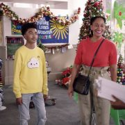 "BLACK-ISH - ""Compton Around the Christmas Tree"" – Dre realizes he's out of touch with his roots after Junior claims he's turned into a ""valley dad,"" so he takes the family to his hometown of Compton. Meanwhile, Bow tries to teach Jack and Diane about the spirit of giving by having them volunteer in Compton for Christmas on ""black-ish,"" WEDNESDAY, DEC. 2 (9:30-10:00 p.m. EST), on ABC. (ABC) MARSAI MARTIN, MILES BROWN, TRACEE ELLIS ROSS"