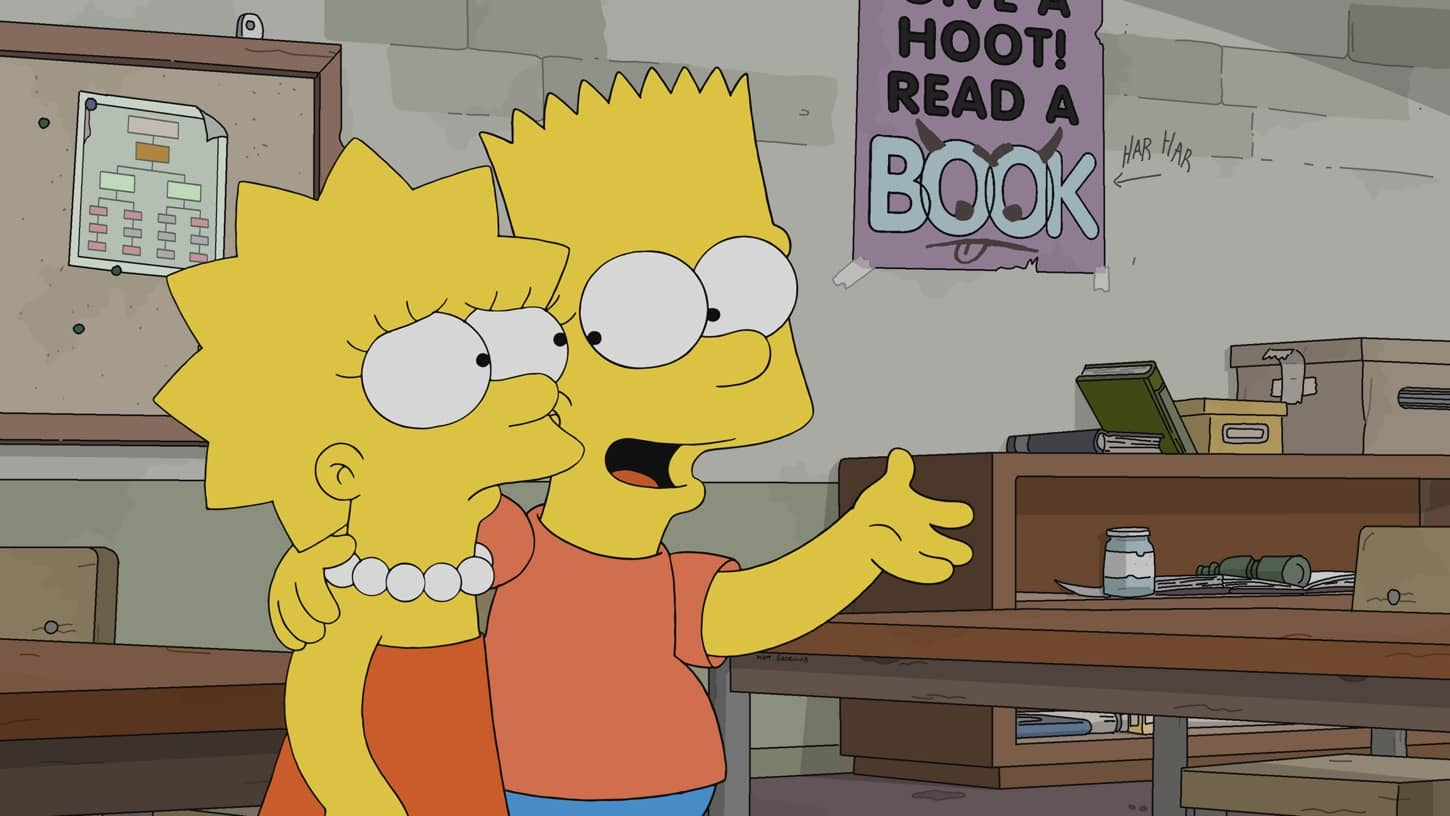 "THE SIMPSONS: Lisa calls her teacher, Ms. Hoover, a hack and refuses to apologize. Then, she learns Ms. Hoover's private pain in the ""Sorry Not Sorry"" episode of THE SIMPSONS airing Sunday, Dec. 6 (8:00-8:31 PM ET/PT) on FOX. THE SIMPSONS © 2020 by Twentieth Century Fox Film Corporation."