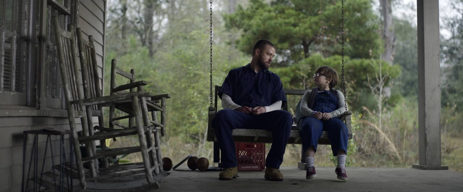 """Justin Timberlake and Ryder Allen in """"Palmer,"""" premiering globally January 29, 2021 on Apple TV+"""