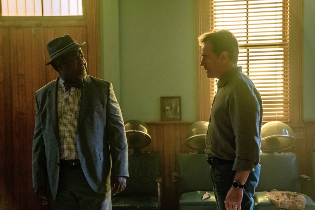 "(L-R): Isiah Whitlock Jr. as Charlie and Bryan Cranston as Michael Desiato in YOUR HONOR, ""Part Three"". Photo Credit: Skip Bolen/SHOWTIME."
