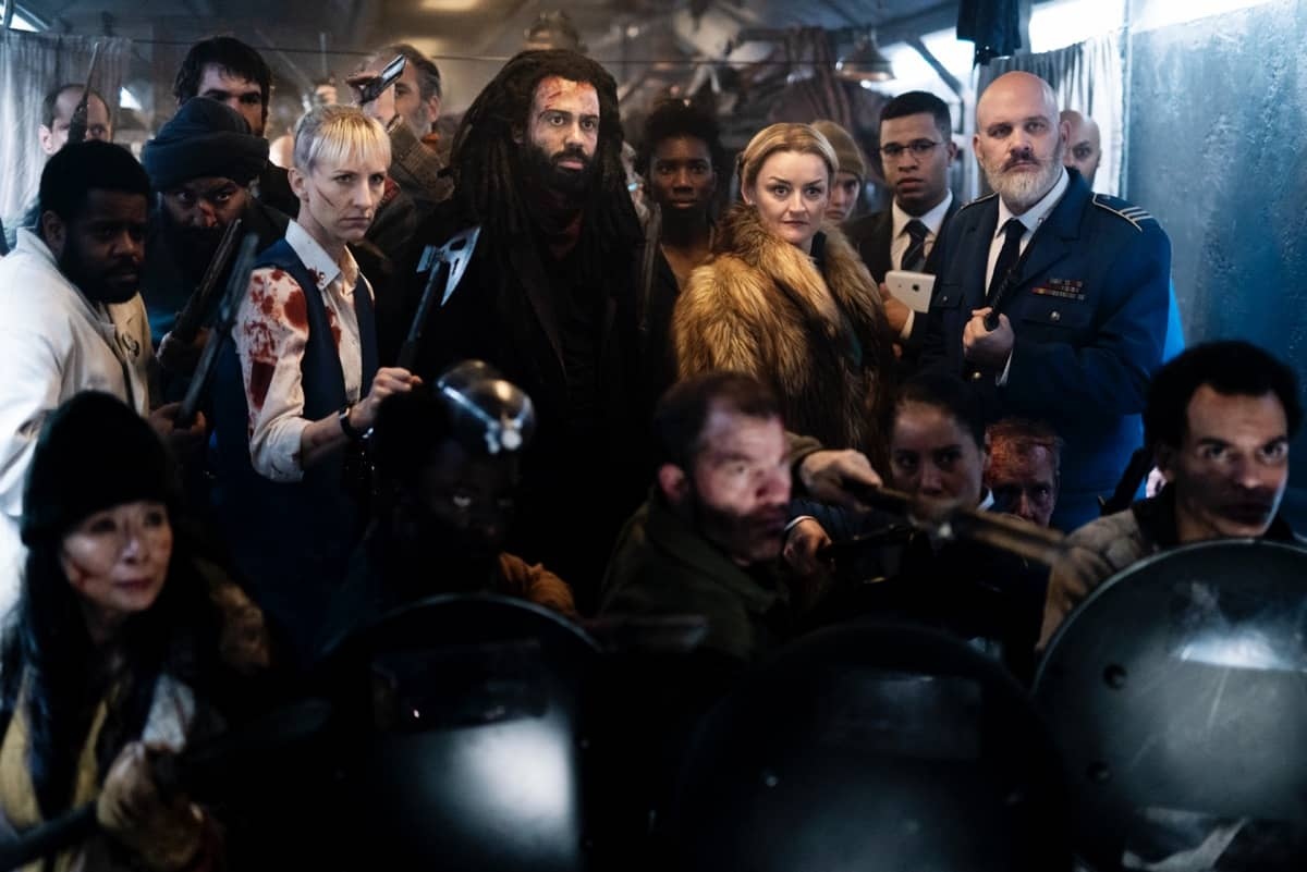 Snowpiercer Season 2 Episode 1 Mickey Sumner, Daveed Diggs, Alison Wright, Mike O'Malley Photograph by David Bukach