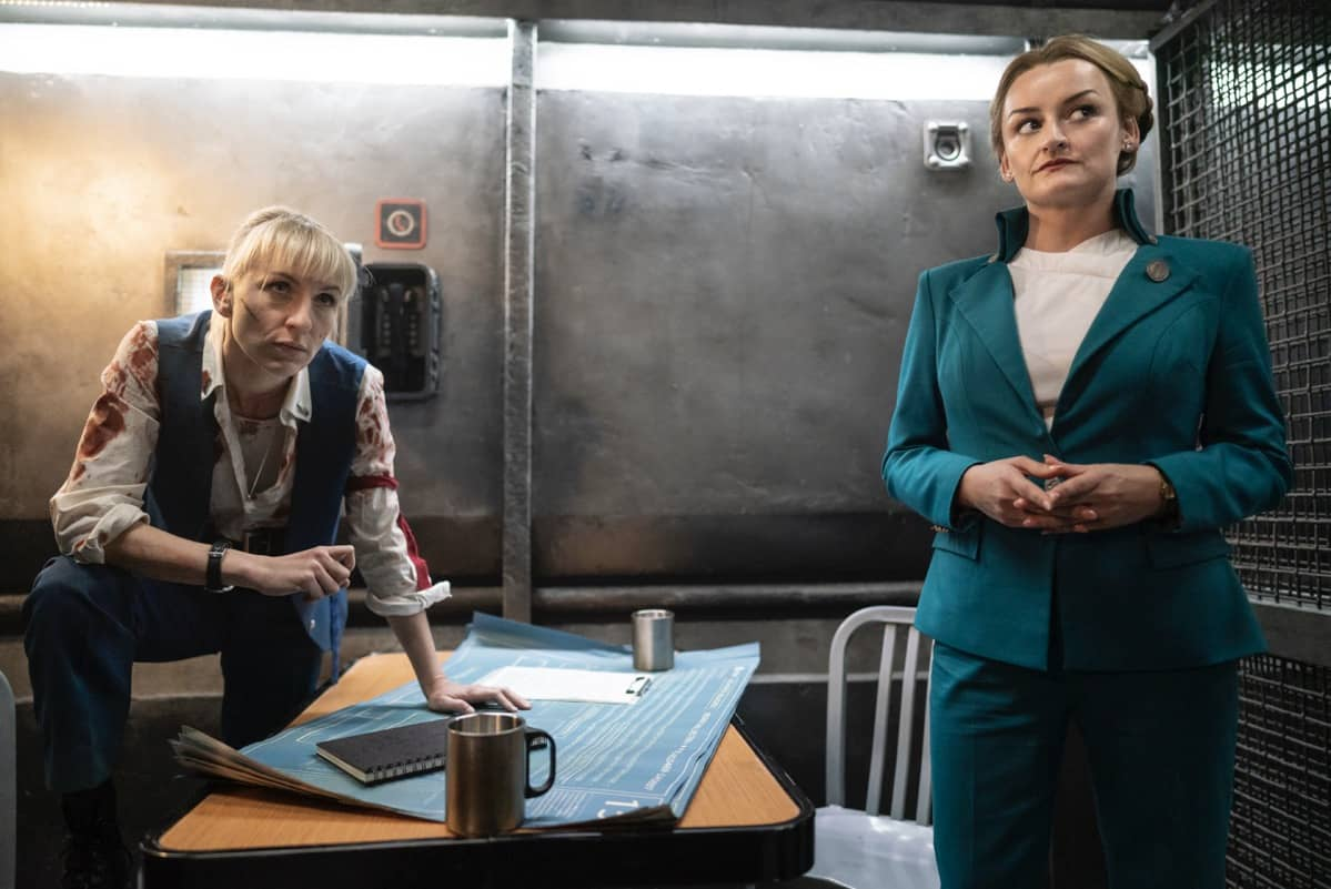 Snowpiercer Season 2 Episode 1 Mickey Sumner, Alison Wright Photograph by David Bukach