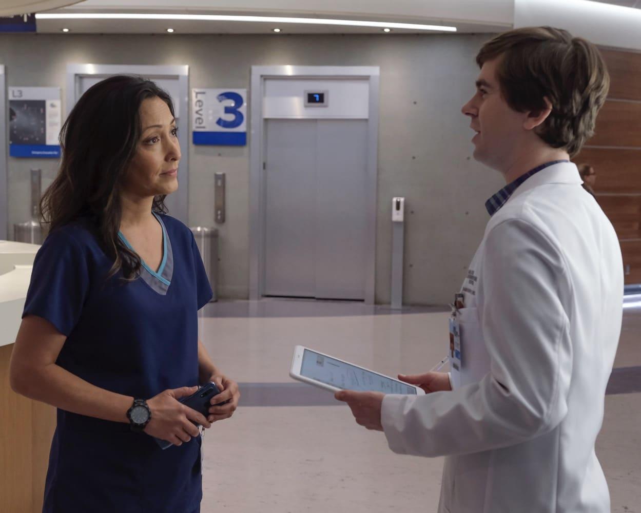 THE GOOD DOCTOR Season 4 Episode 6 Lim CHRISTINA CHANG, FREDDIE HIGHMORE