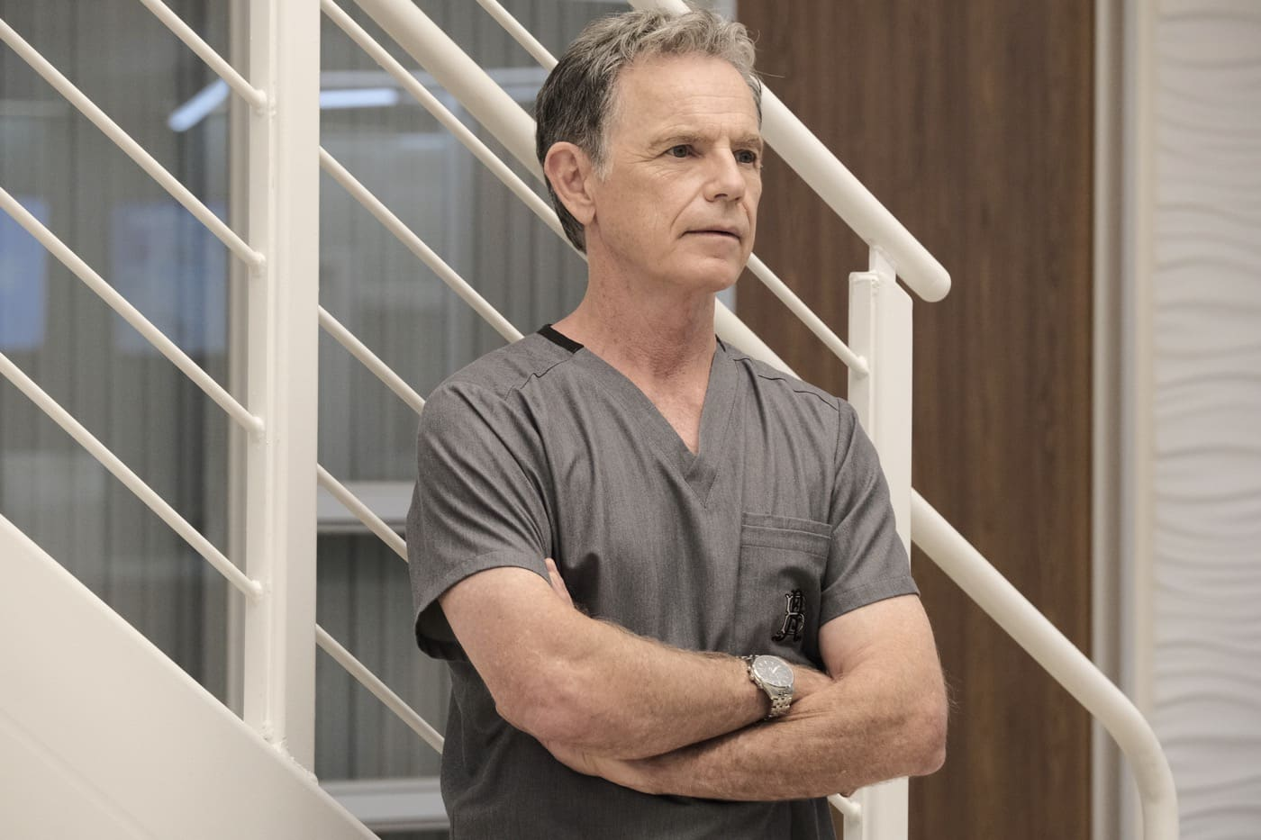 "THE RESIDENT Season 4 Episode 2 : Bruce Greenwood in the ""Mina's Kangaroo Court"" episode of THE RESIDENT airing Tuesday, Jan. 19 (8:00-9:01 PM ET/PT) on FOX. ©2020 Fox Media LLC Cr: Guy D'Alema/FOX"