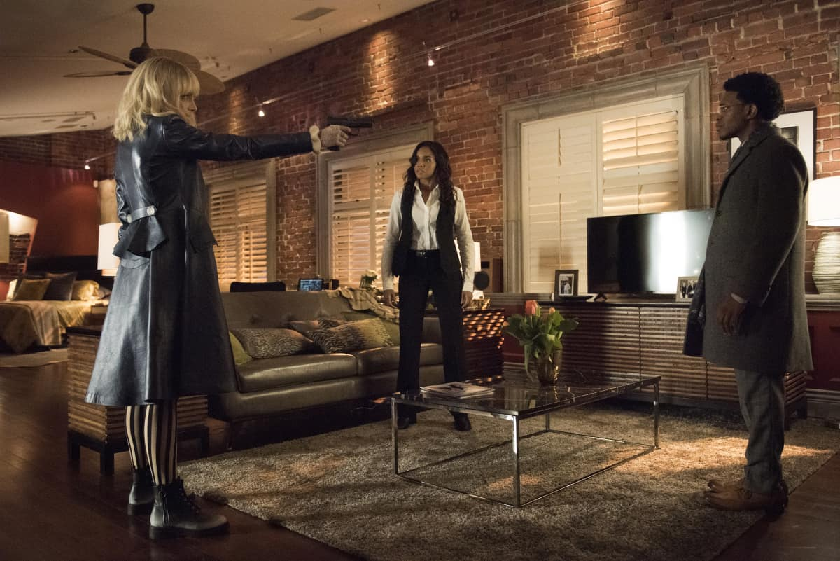 "Batwoman Season 2 Episode 4 -- ""Fair Skin, Blue Eyes"" Rachel Skarsten as Alice, Meagan Tandy as Sophie Moore and Camrus Johnson as Luke Fox"