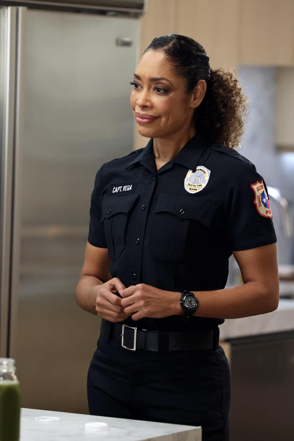 "9-1-1: LONE STAR Season 2 Episode 5 : Gina Torres in the ""Difficult Conversations"" episode of 9-1-1: LONE STAR airing Monday, Feb. 15 (9:01-10:00 PM ET/PT) on FOX. © 2021 Fox Media LLC. CR: Jordin Althaus/FOX."
