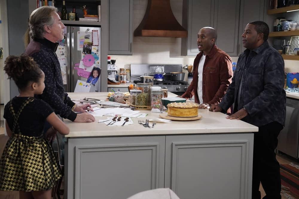 """KENAN Season 1 Episode 1 -- """"Pilot"""" Episode 101 -- Pictured: (l-r) Dannah Lane as Birdie, Don Johnson as Rick, Chris Redd as Gary, Kenan Thompson as Kenan"""