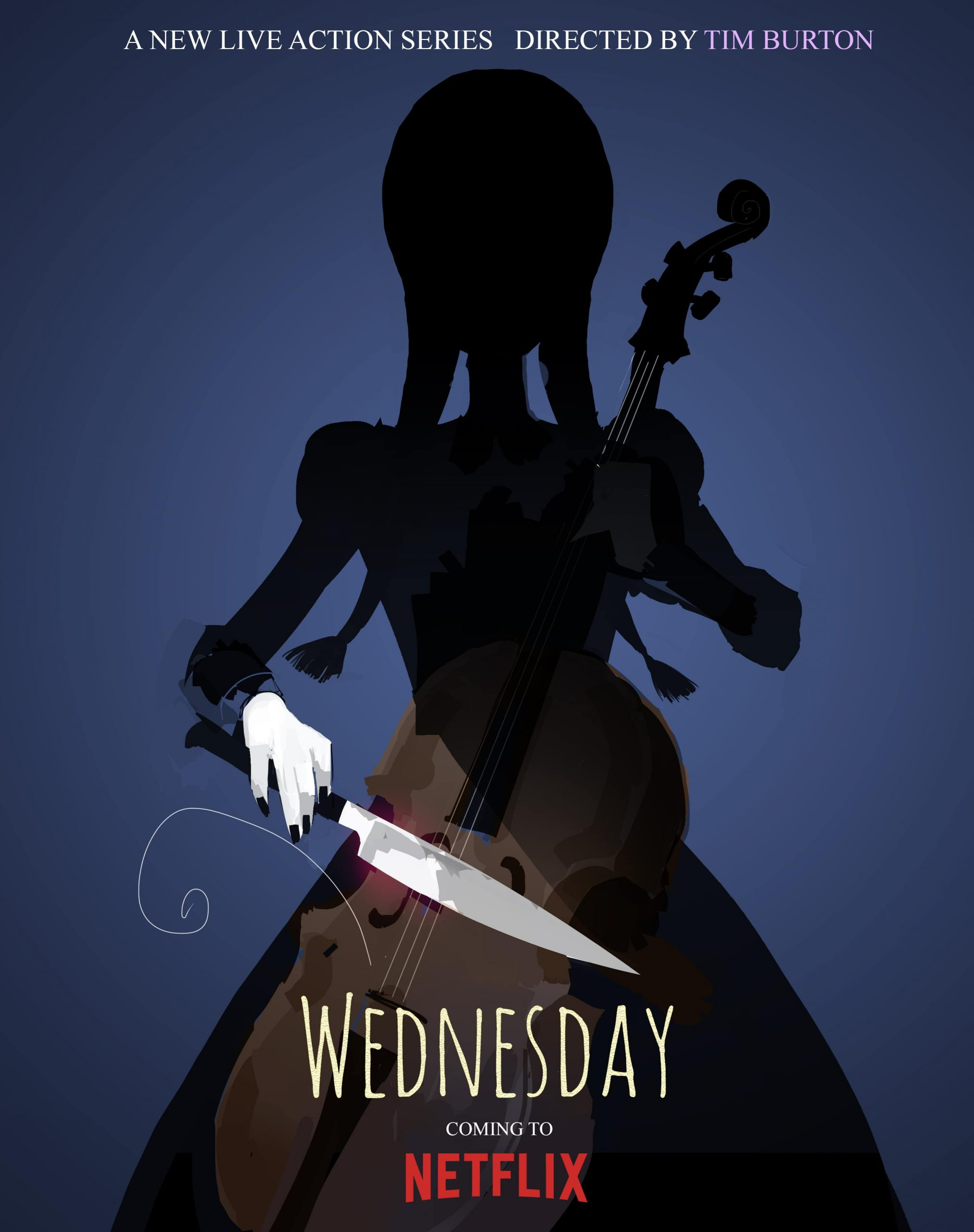 Wednesday TV Series Teaser Poster Netflix