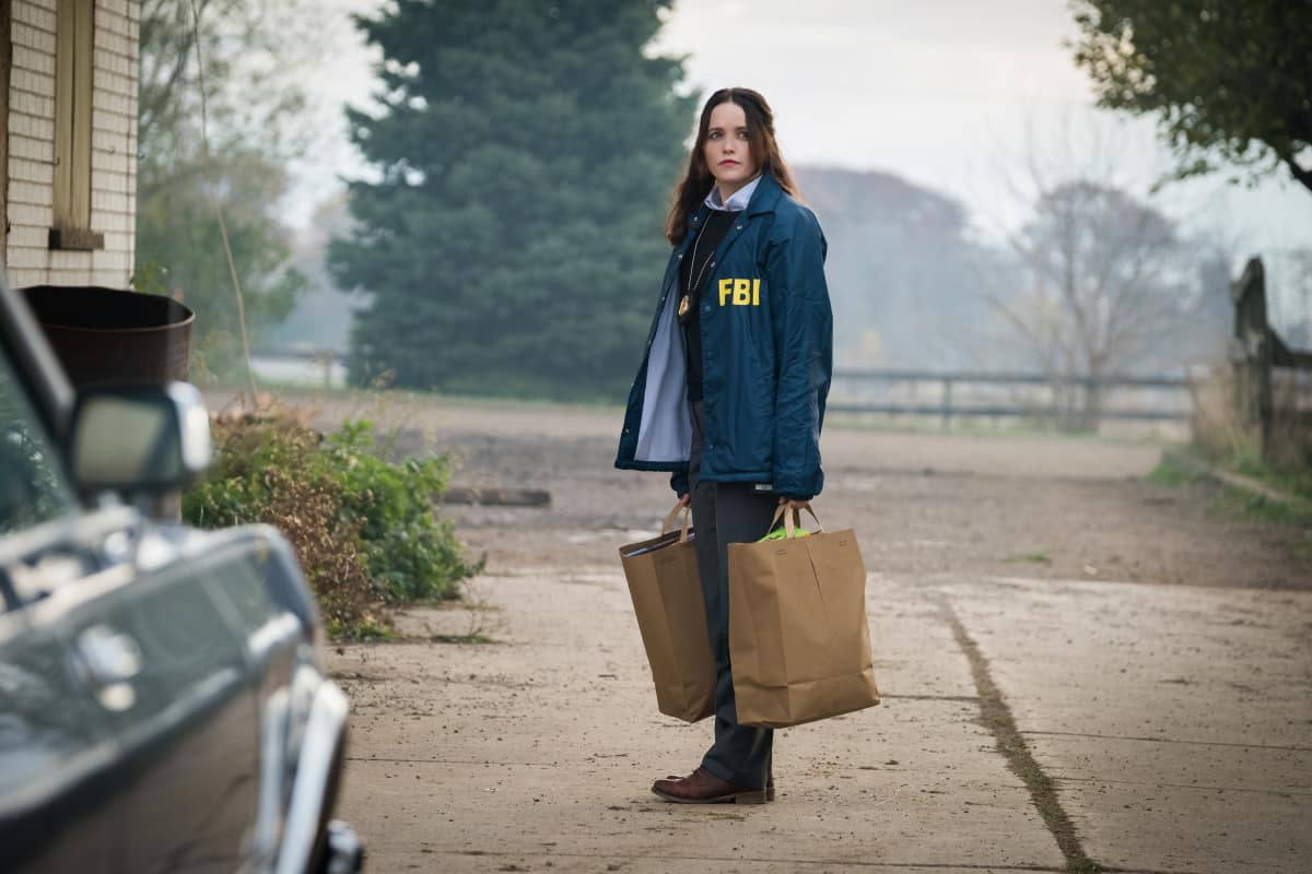 """Clarice Season 1 Episode 2 """"Ghosts of Highway 20"""" Pictured Rebecca Breeds as Clarice Starling"""