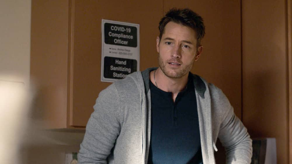 """THIS IS US Season 5 Episode 9 --  """"The Ride"""", Episode 509 -- Pictured in this screen grab: Justin Hartley as Kevin -- (Photo by: NBC)"""