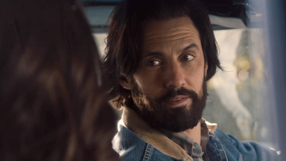 """THIS IS US Season 5 Episode 9 --  """"The Ride"""", Episode 509 -- Pictured in this screen grab: Milo Ventimiglia as Jack -- (Photo by: NBC)"""