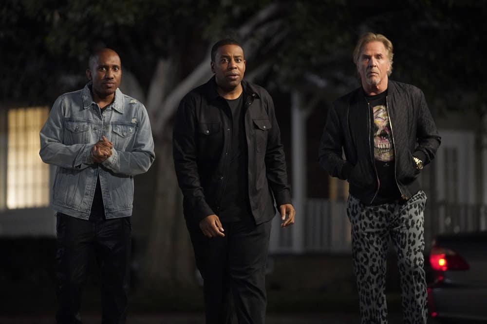 """KENAN Season 1 Episode 2 -- """"Hard News"""" Episode 102 -- Pictured: (l-r) Chris Redd as Gary, Kenan Thompson as Kenan, Don Johnson as Rick -- (Photo by: Casey Durkin/NBC)"""