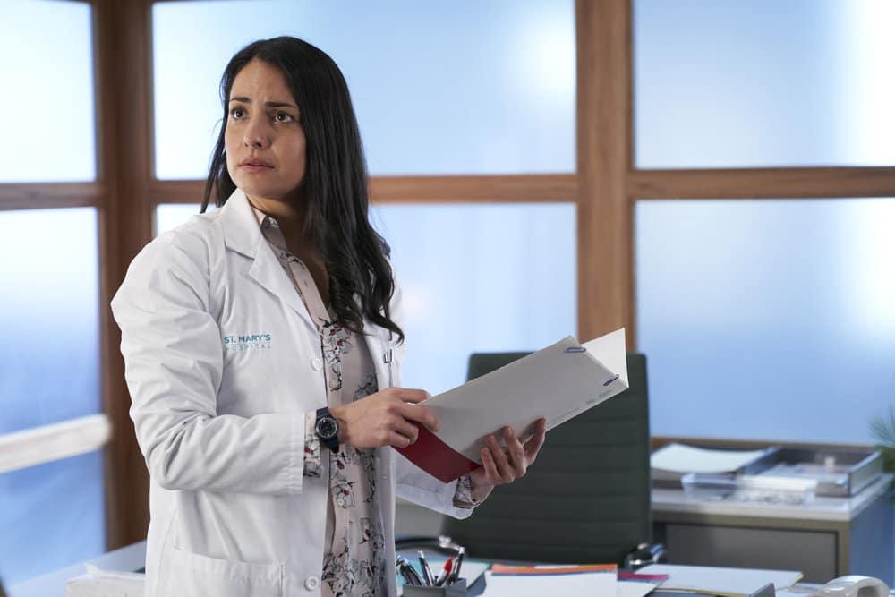 "NURSES Season 1 Episode 10 -- ""Lady Business"" Episode 110 -- Pictured: Nicola Correia-Damude as Dr. Banks -- (Photo by: Ken Woroner/eOne/NBC)"