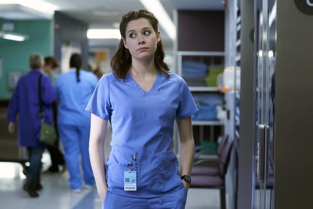 "NURSES Season 1 Episode 10 -- ""Lady Business"" Episode 110 -- Pictured: Natasha Calis as Ashley Collins -- (Photo by: Ken Woroner/eOne/NBC)"