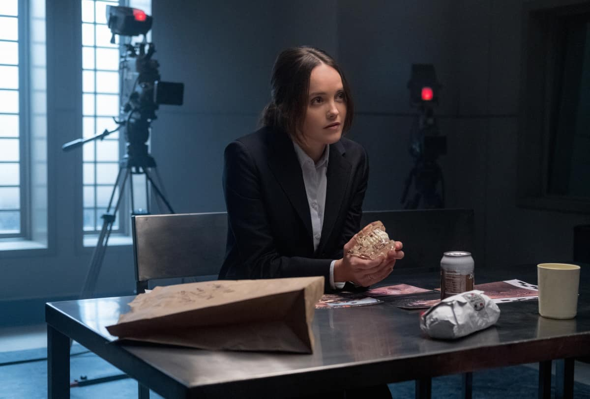 """Clarice Season 1 Episode 3 """"Are You Alright?"""" Pictured Rebecca Breeds as Clarice Starling Photo: Brooke Palmer ©2020 CBS Broadcasting Inc. All Rights Reserved"""