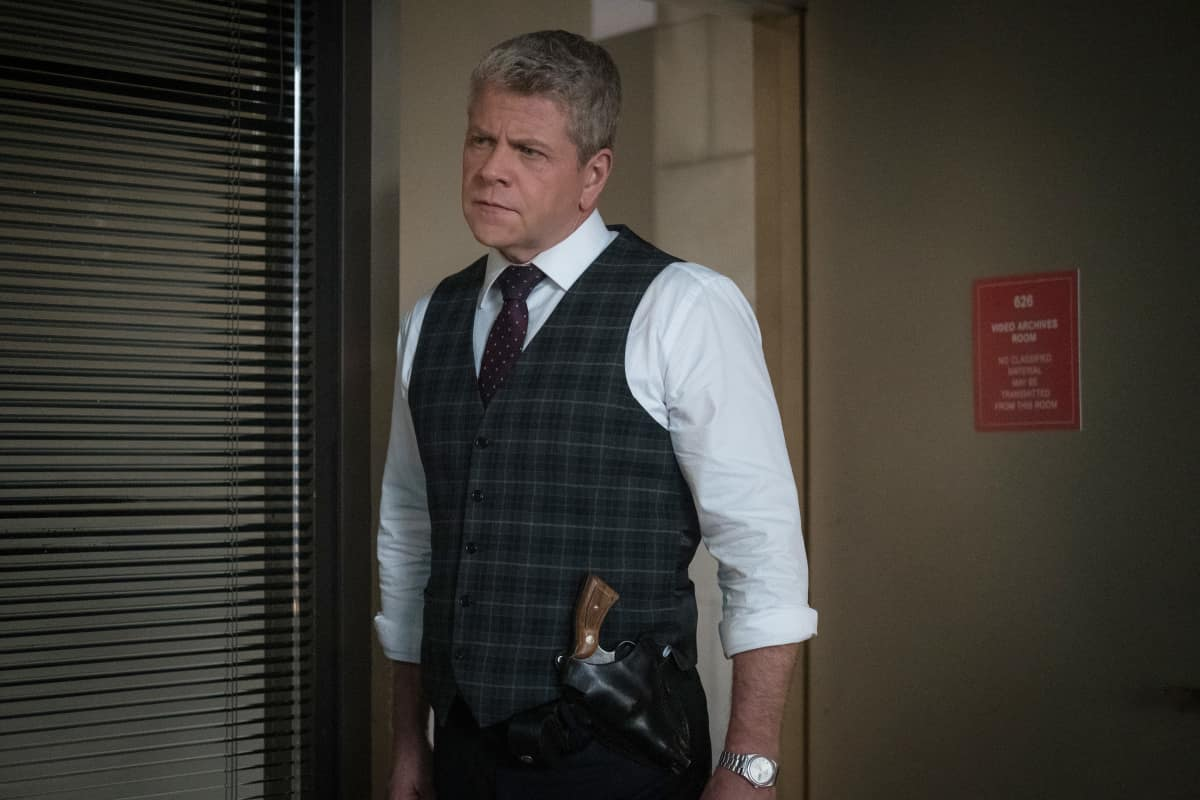 """Clarice Season 1 Episode 3 """"Are You Alright?"""" Pictured  Michael Cudlitz as Paul Krendler Photo: Brooke Palmer ©2020 CBS Broadcasting Inc. All Rights Reserved"""