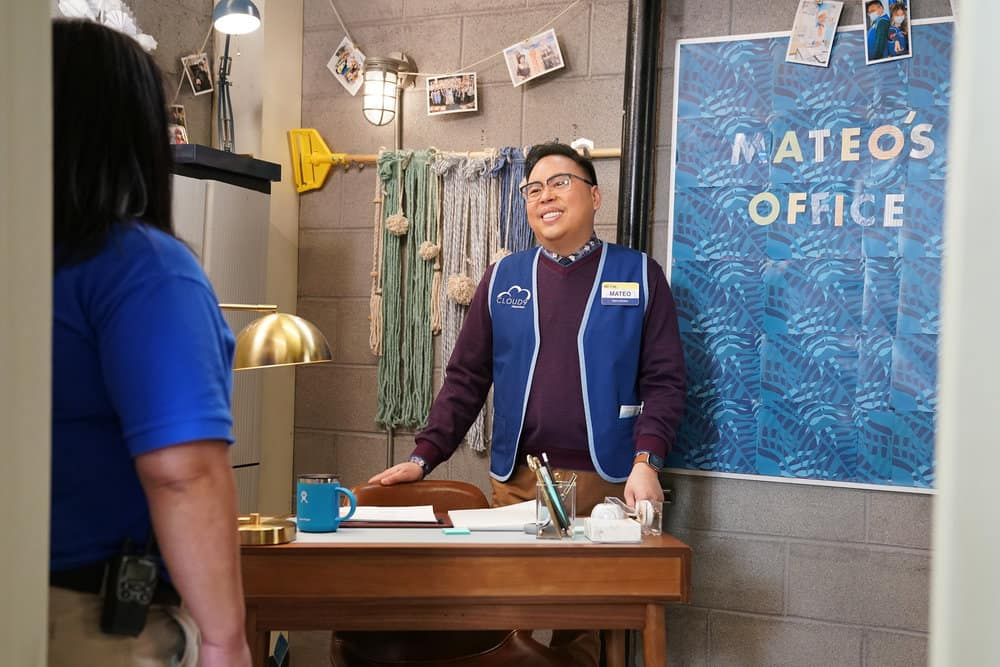 """SUPERSTORE Season 6 Episode 10 -- """"Depositions"""" Episode 610 -- Pictured: Nico Santos as Mateo -- (Photo by: Tyler Golden/NBC)"""