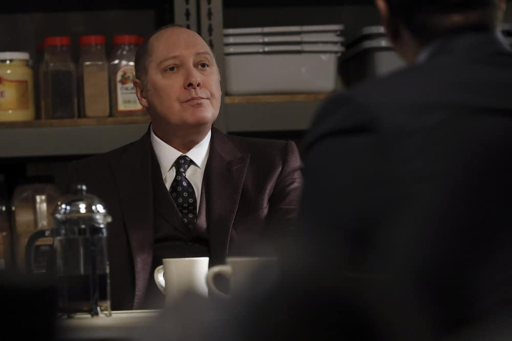 "THE BLACKLIST Season 8 -- ""Ogden Greely (#40)"" Episode 808 -- Pictured: James Spader as Raymond ""Red"" Reddington -- (Photo by: Will Hart/NBC)"