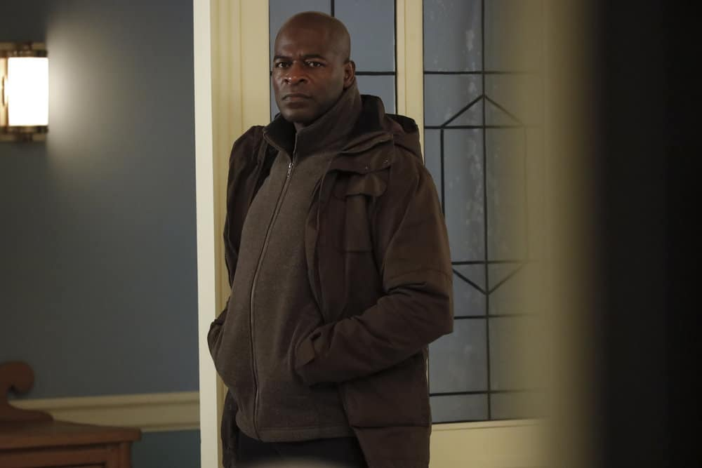 "THE BLACKLIST Season 8 Episode 8 -- ""Ogden Greely (#40)"" Episode 808 -- Pictured: Hisham Tawfiq as Dembe Zuma -- (Photo by: Will Hart/NBC)"