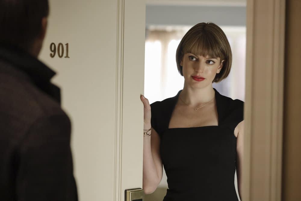 """THE BLACKLIST Season 8 Episode 8 -- """"Ogden Greely (#40)"""" Episode 808 -- Pictured: Annie Hägg as Nina Kurylenko -- (Photo by: Will Hart/NBC)"""