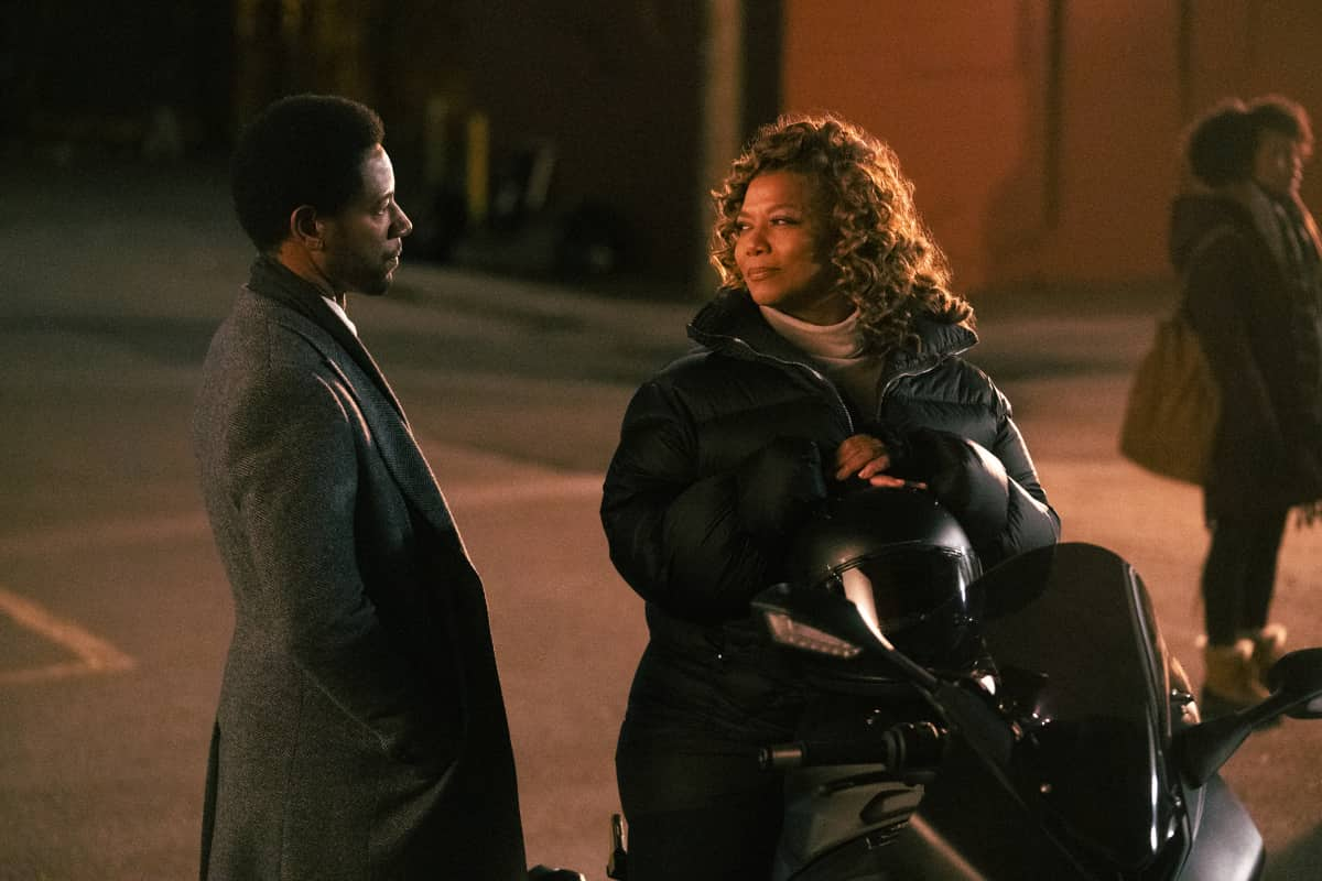 """The Equalizer Season 1 Episode 4 """"It Takes a Village"""" Pictured (L-R): Tory Kittles as Detective Marcus Dante and Queen Latifah as Robyn McCall"""