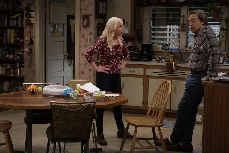 "THE CONNERS Season 3 Episode 12  - ""A Stomach Ache, A Heartbreak and a Grave Mistake"" – LECY GORANSON, JOHN GOODMAN"