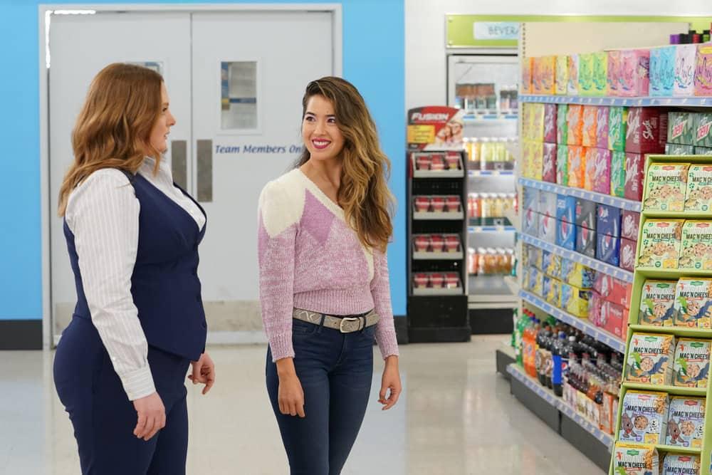 "SUPERSTORE Season 6 Episode 11 -- ""Deep Cleaning"" Episode 611 -- Pictured: (l-r) Lauren Ash as Dina, Nichole Sakura as Cheyenne -- (Photo by: Chris Haston/NBC)"