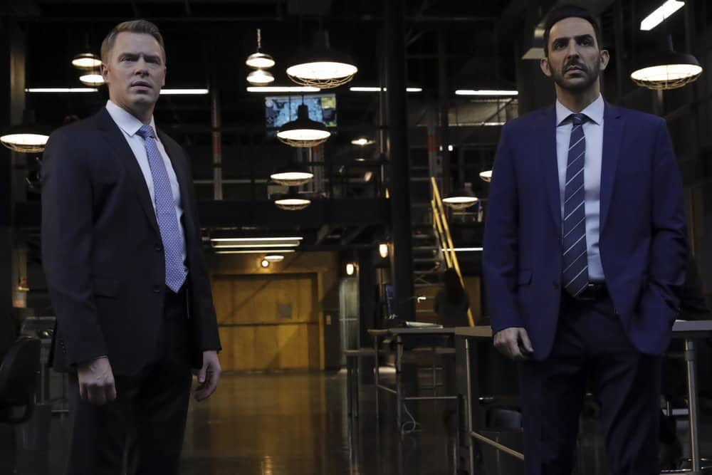 "THE BLACKLIST Season 8 Episode 9  -- ""The Cyranoid (#35)"" Episode 809 -- Pictured: (l-r) Diego Klattenhoff as Donald Ressler, Amir Arison as Aram Mojtabai -- (Photo by: Will Hart/NBC)"