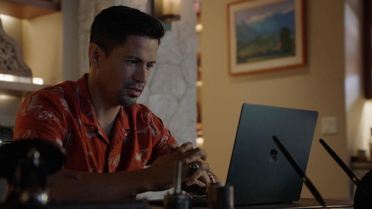 "Magnum PI Season 3 Episode 10 ""The Long Way Home"" Pictured: Jay Hernandez as Thomas Magnum"