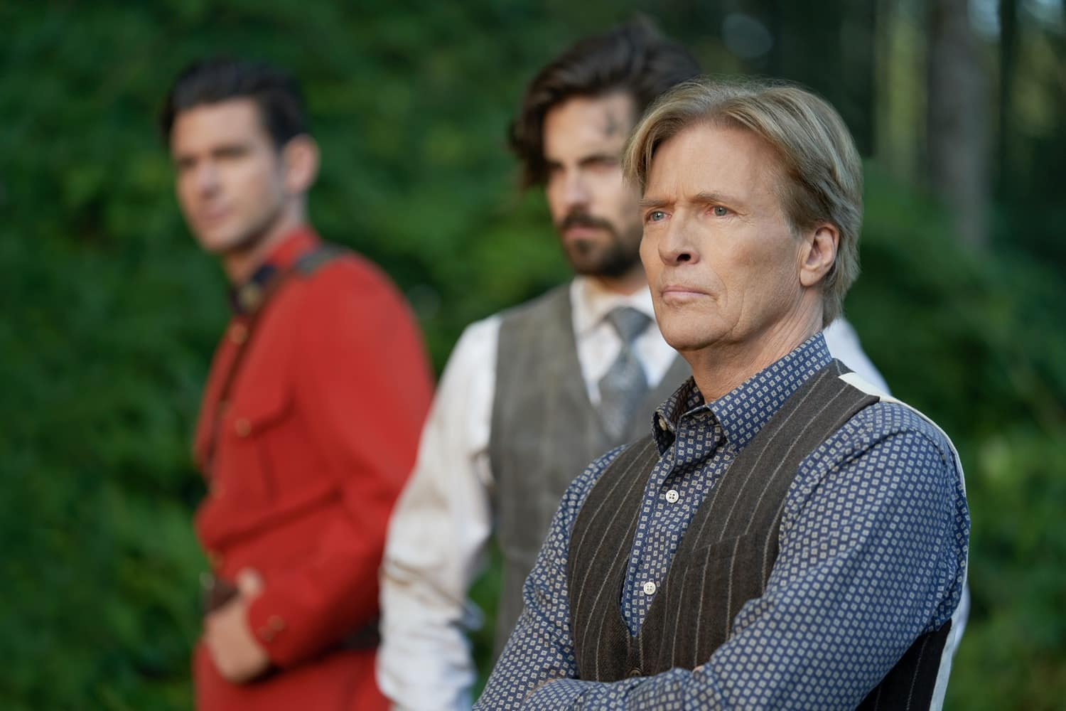 When Calls The Heart Season 8 Episode 3 Photo: Kevin McGarry, Chris McNally, Jack Wagner   Credit: ©2021 Crown Media United States LLC/Photographer: Ricardo Hubbs