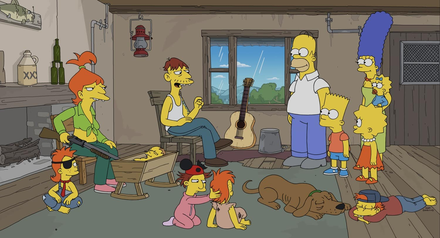 THE SIMPSONS Season 32 Episode 14 : Cletus becomes a singing sensation, while Homer becomes a new man.  Then, Cletus turns on his fans, ruining everything in the ìYokel Heroî episode of THE SIMPSONS airing Sunday, March 7 (8:00-8:30 PM ET/PT) on FOX. THE SIMPSONS © 2021 by 20th Television.