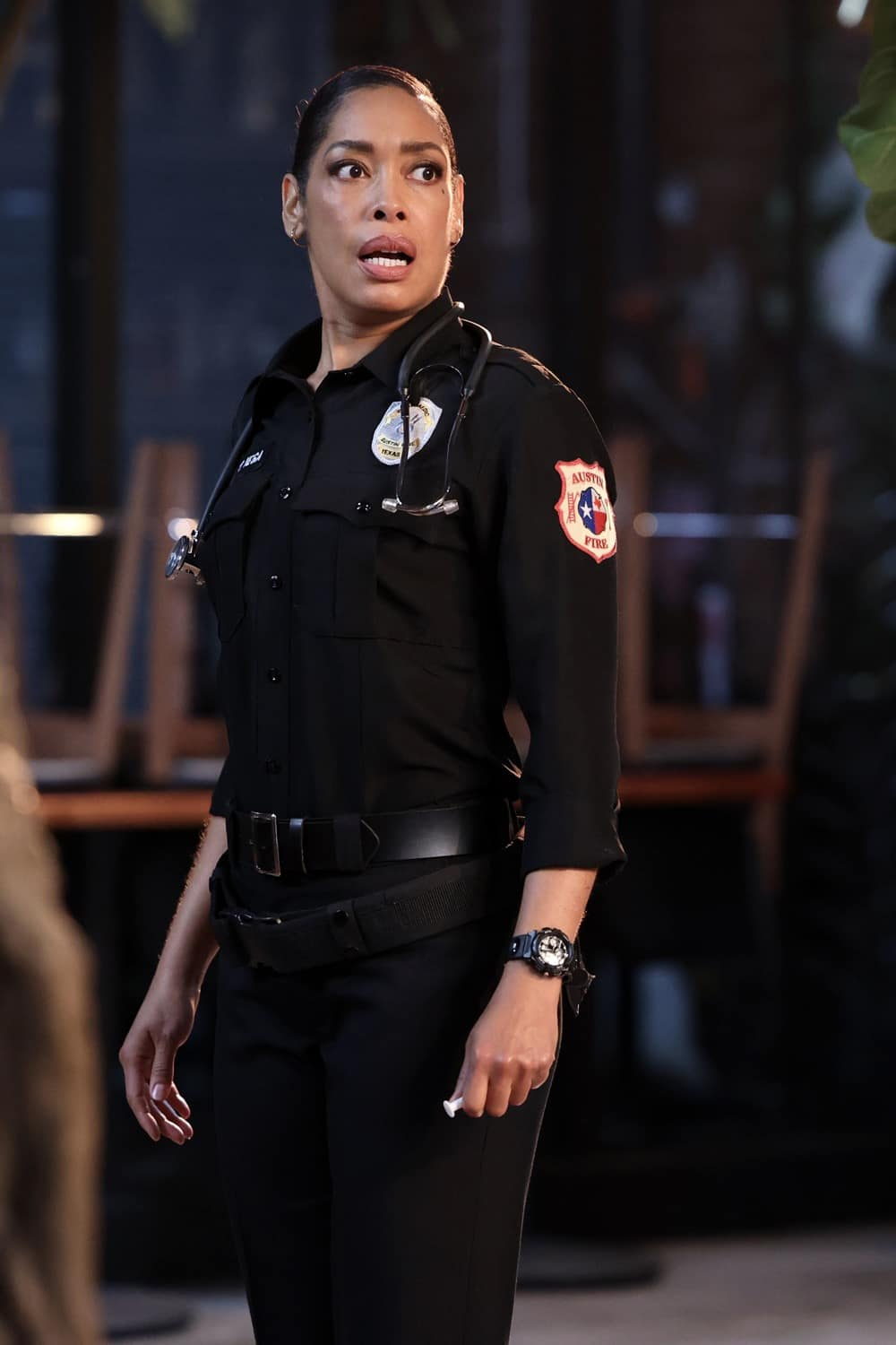 """9-1-1 Season 2 Episode 8 : LONE STAR: Gina Torres in the """"Bad Call"""" episode of 9-1-1: LONE STAR airing Monday, March 8 (9:01-10:00 PM ET/PT) on FOX. © 2021 Fox Media LLC. CR: Jordin Althaus/FOX."""