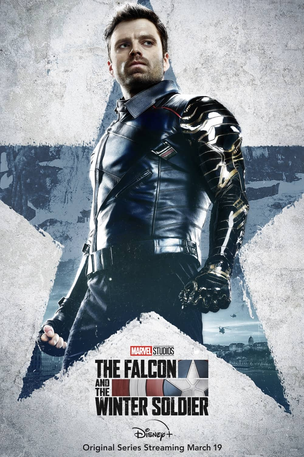 Sebastian Stan as Bucky Barnes/The Winter Soldier The Falcon And The Winter Soldier Character Poster