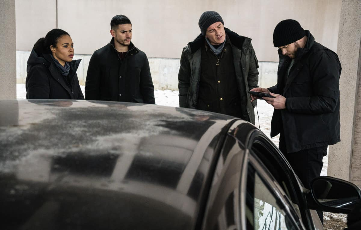 """FBI Most Wanted Season 2 Episode 8 """"Vanished"""" -   Pictured (L-R) Roxy Sternberg as  Special Agent Sheryll Barnes,  Miguel Gomez as Special Agent Ivan Ortiz, Julian McMahon as Supervisory Special Agent Jess LaCroix and Kellan Lutz as Special Agent Kenny Crosby"""