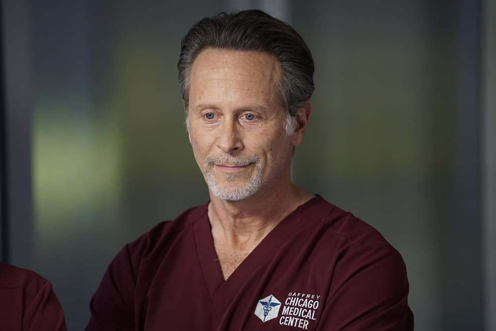 "CHICAGO MED Season 6 Episode 8 -- ""Fathers and Mothers, Daughters and Sons"" Episode 608 -- Pictured: Steven Weber as Dr. Dean Archer -- (Photo by: Elizabeth Sisson/NBC)"
