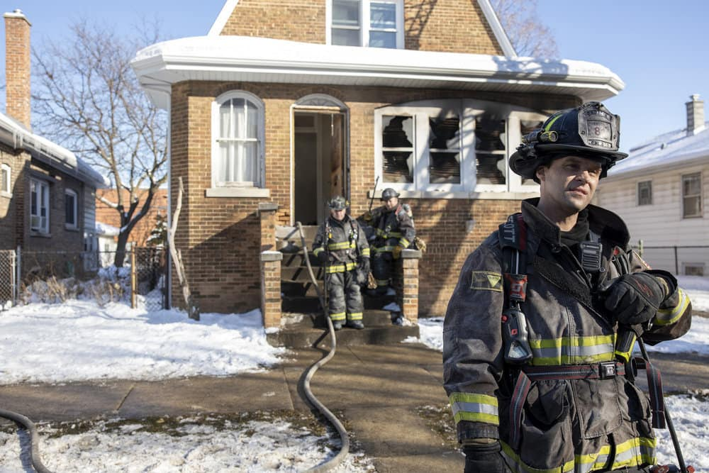 """CHICAGO FIRE Season 9 Episode 8 -- """"Escape Route"""" Episode 908 -- Pictured: Jesse Spencer as Matthew Casey -- (Photo by: Adrian S. Burrows Sr./NBC)"""