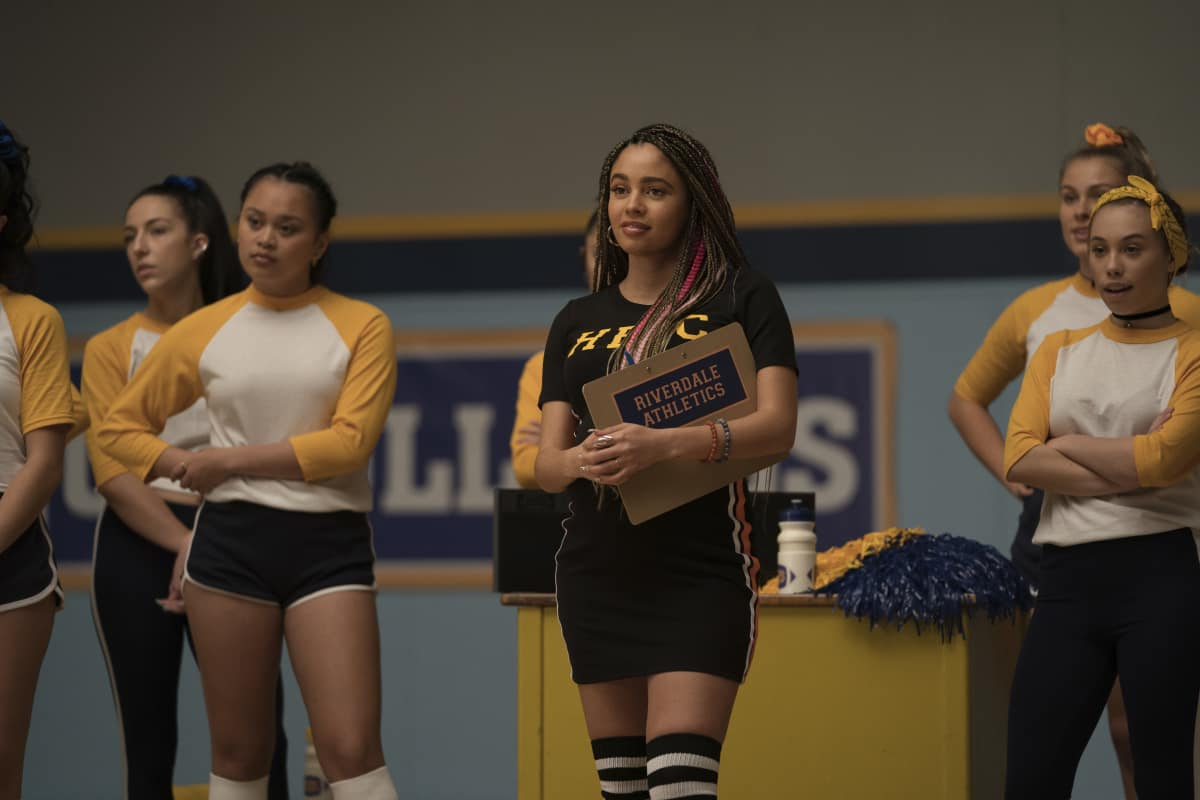 """Riverdale Season 5 Episode 7 -- """"Chapter Eighty-Three: Fire In The Sky"""" -- Image Number: RVD507a_0447r -- Pictured: Vanessa Morgan as Toni Topaz"""