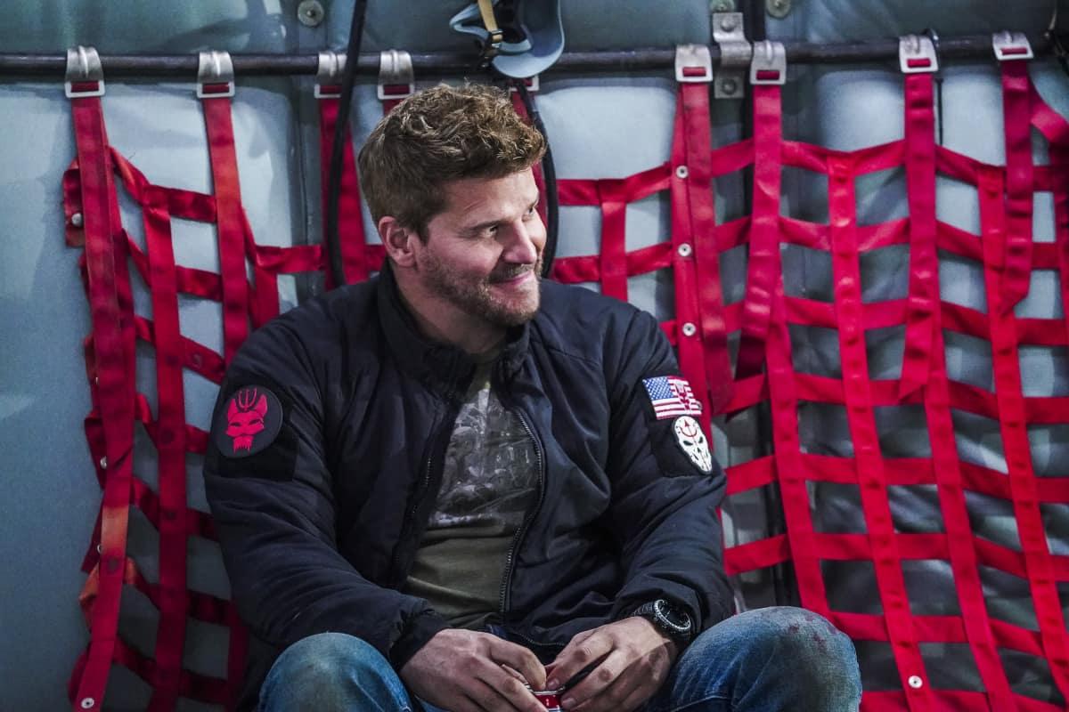 """Seal Team Season 4 Episode 9""""Reckoning"""" Pictured: David Boreanaz as Jason Hayes"""