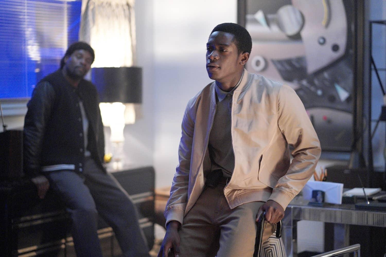 "Snowfall Season 4 Episode 4 ""Expansion"" -- Season 4, Episode 4(Airs Wednesday, March 10) -- Pictured: (l-r) Amin Joseph as Jerome Saint, Damson Idris as Franklin Saint. CR: Byron Cohen/FX"