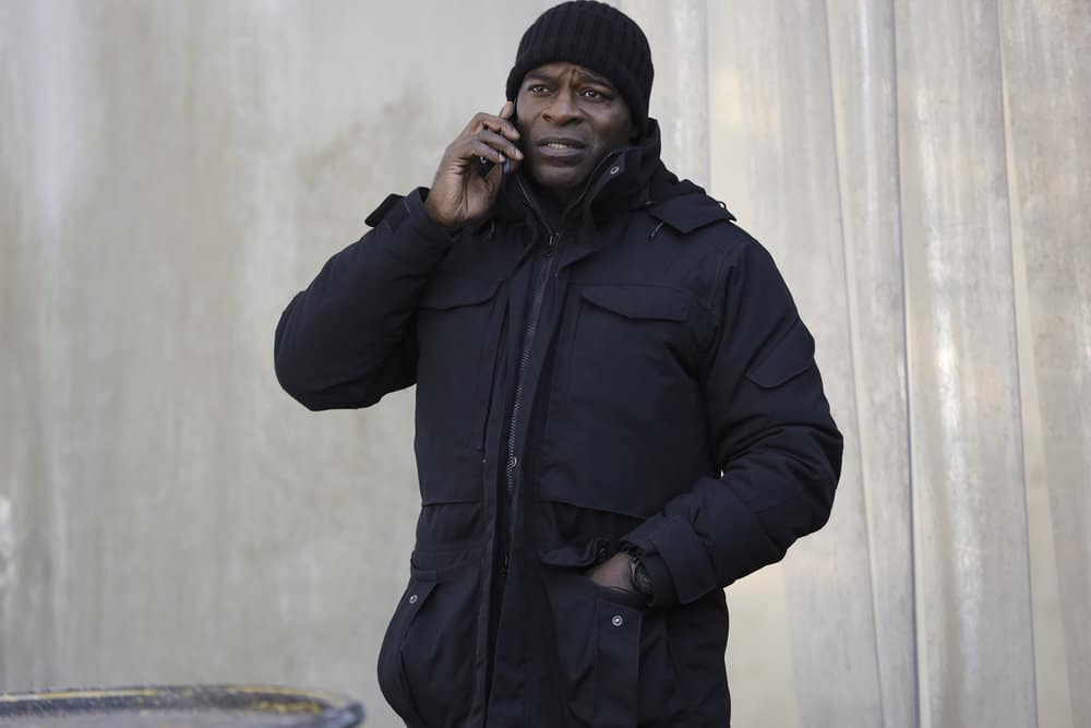 "THE BLACKLIST Season 8 Episode 10 -- ""Dr. Laken Perillos (#70)"" Episode 810 -- Pictured: Hisham Tawfiq as Dembe Zuma -- (Photo by: Will Hart/NBC)"